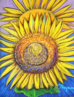 Sunflower Sunrise Painting by Yasemin Raymondo