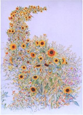 Sunflower Painting - Sunflower Symphony by Richard Bulman