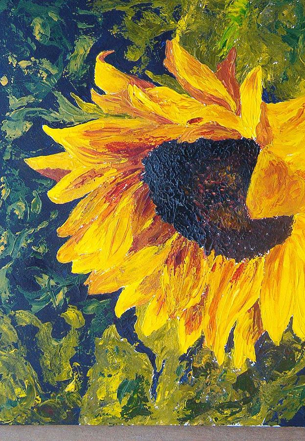 Sunflower Painting by Tami Booher