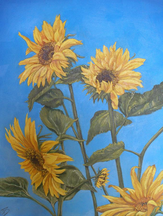 Sunflower Painting - Sunflower by Travis Day