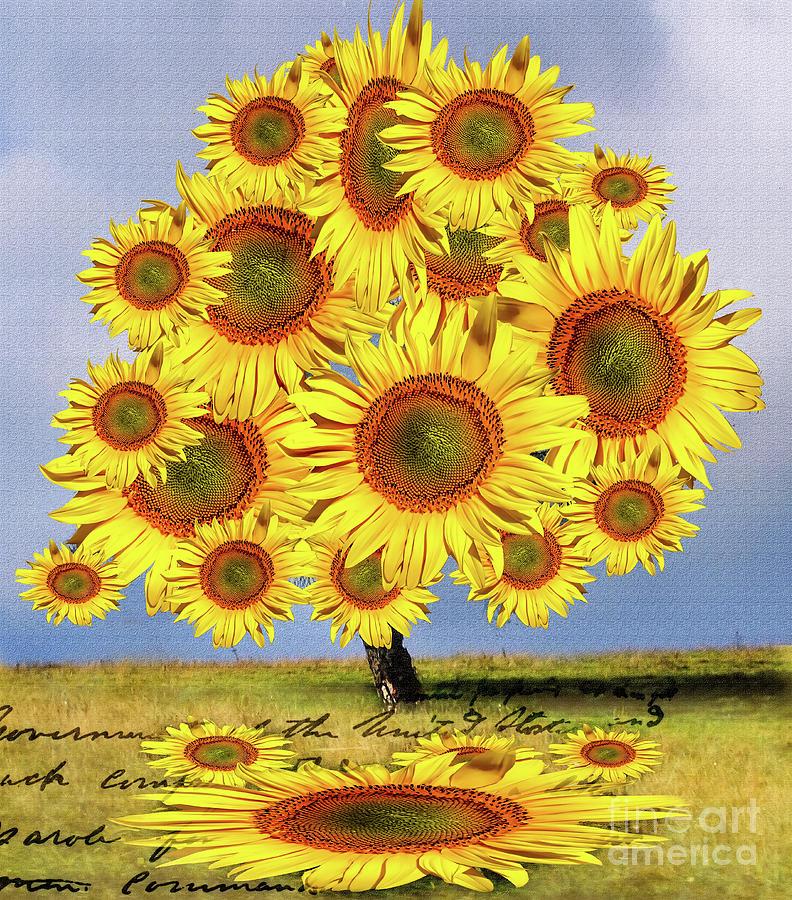 Sunflower Tree by Daliana Pacuraru