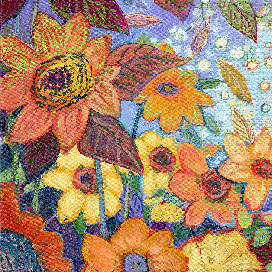 Sunflower Tropics Part 1 Painting