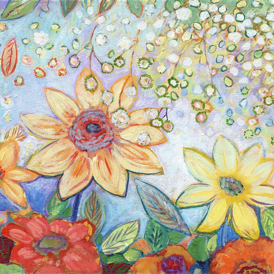 Sunflower Painting - Sunflower Tropics Part 2 by Jennifer Lommers