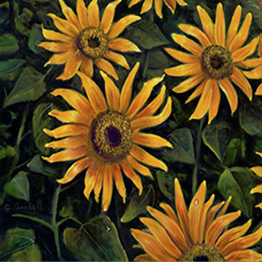 Sunflowers 1 by Claudia Goodell
