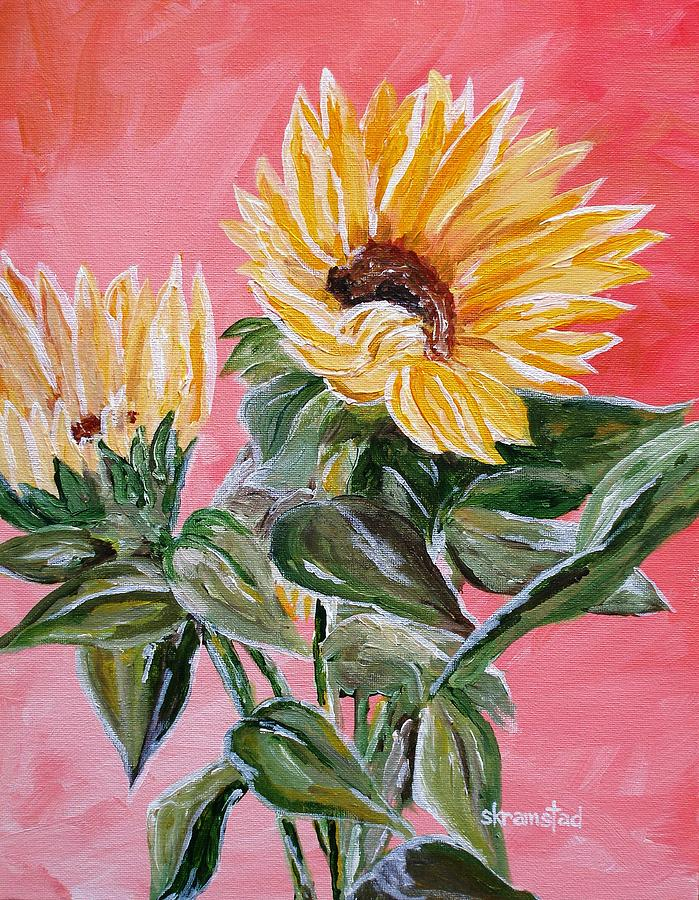 Sunflowers Painting - Sunflowers 2 by Rod Skramstad