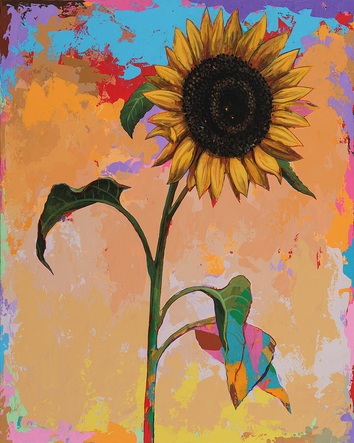Sunflower Painting - Sunflowers #3 by David Palmer
