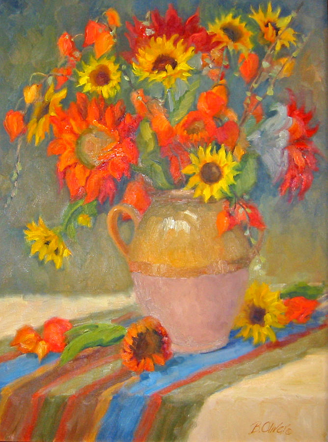 Sunflowers Painting - Sunflowers And More by Bunny Oliver