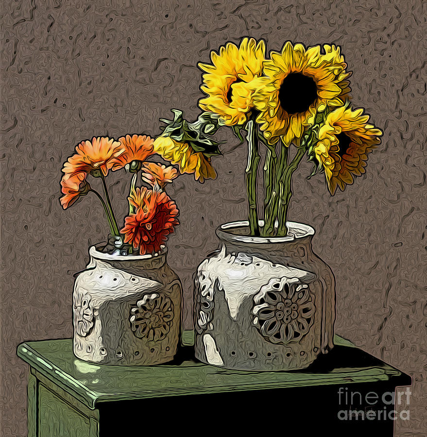 Sunflowers Photograph - Sunflowers by Anthony Forster