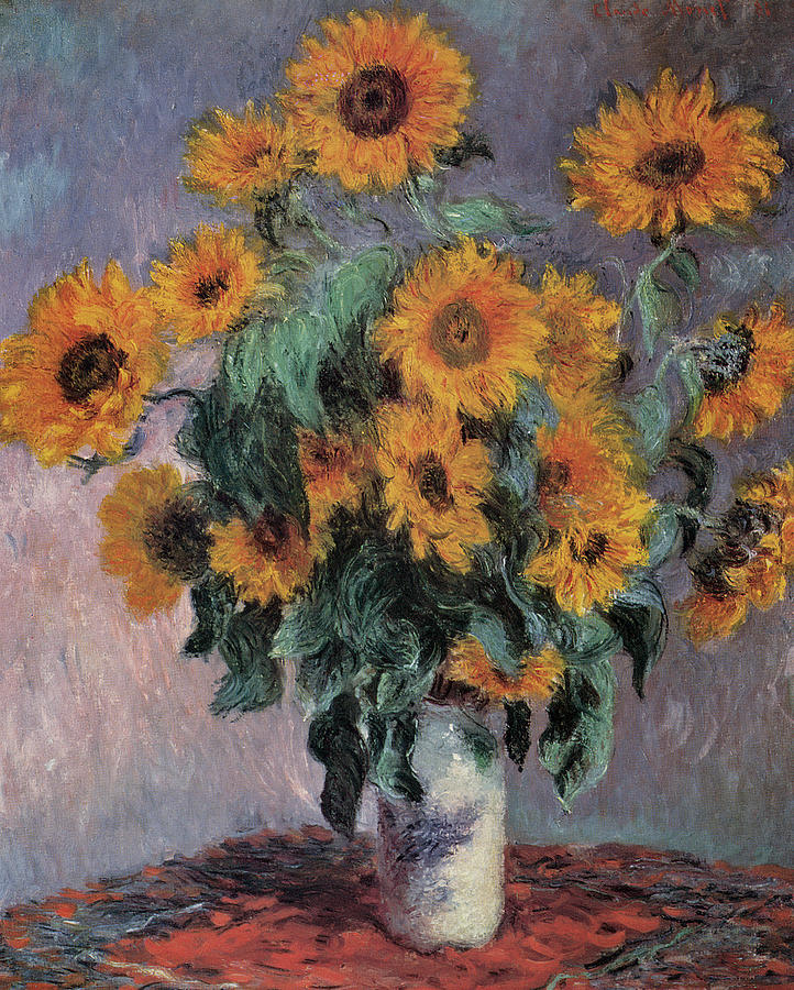 Claude Monet Painting - Sunflowers by Claude Monet
