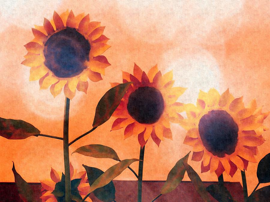 Sunflowers by David Kuhn