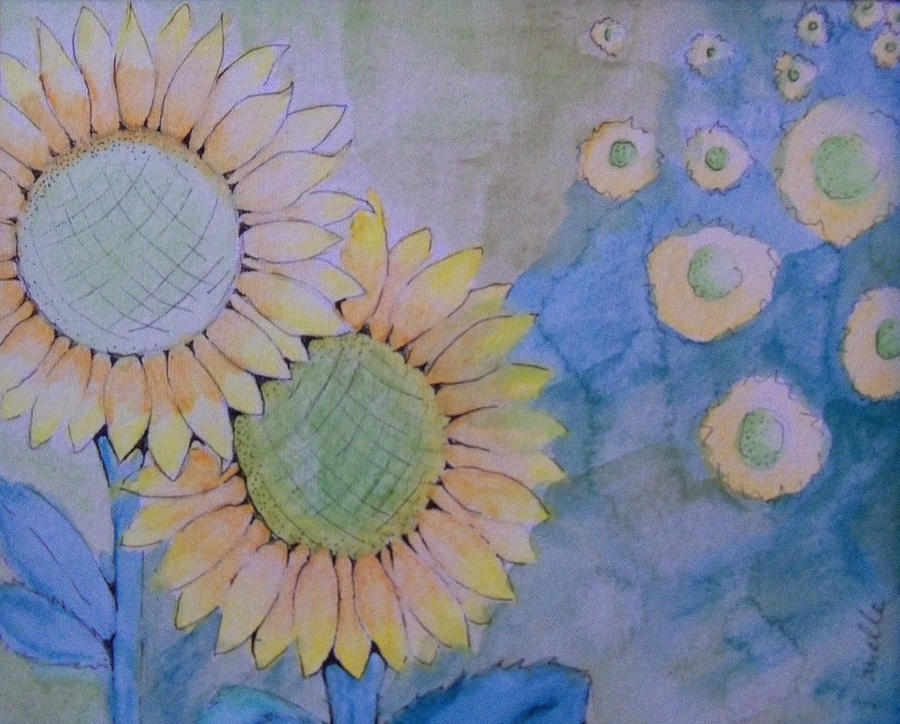 Floral Painting - Sunflowers by Donielle Boal