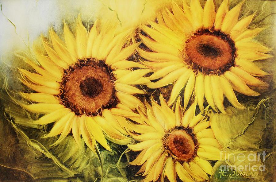 Sunflowers Painting - Sunflowers by Fatima Stamato