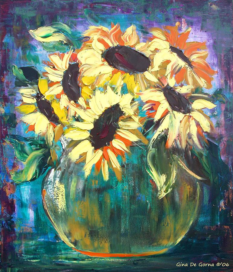 Sunflowers Painting - Sunflowers by Gina De Gorna