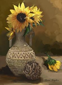 Sunflowers Digital Art - Sunflowers by Gloria Vestring