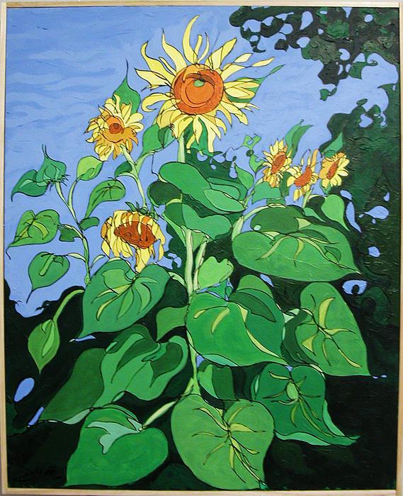 Sunflowers Painting - Sunflowers by John Gibbs