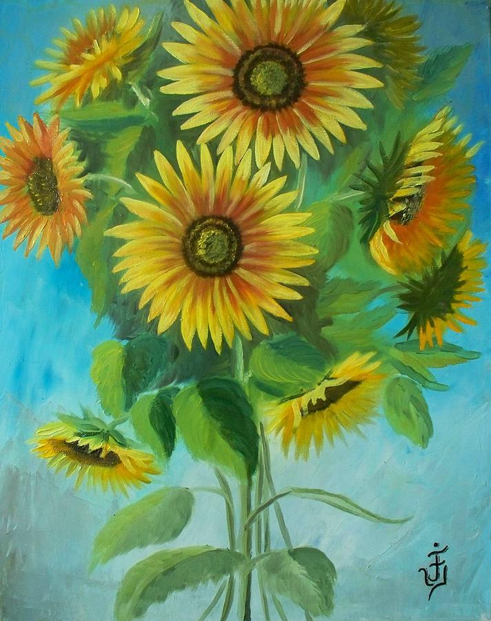 Sunflowers Painting by Jose Velasquez