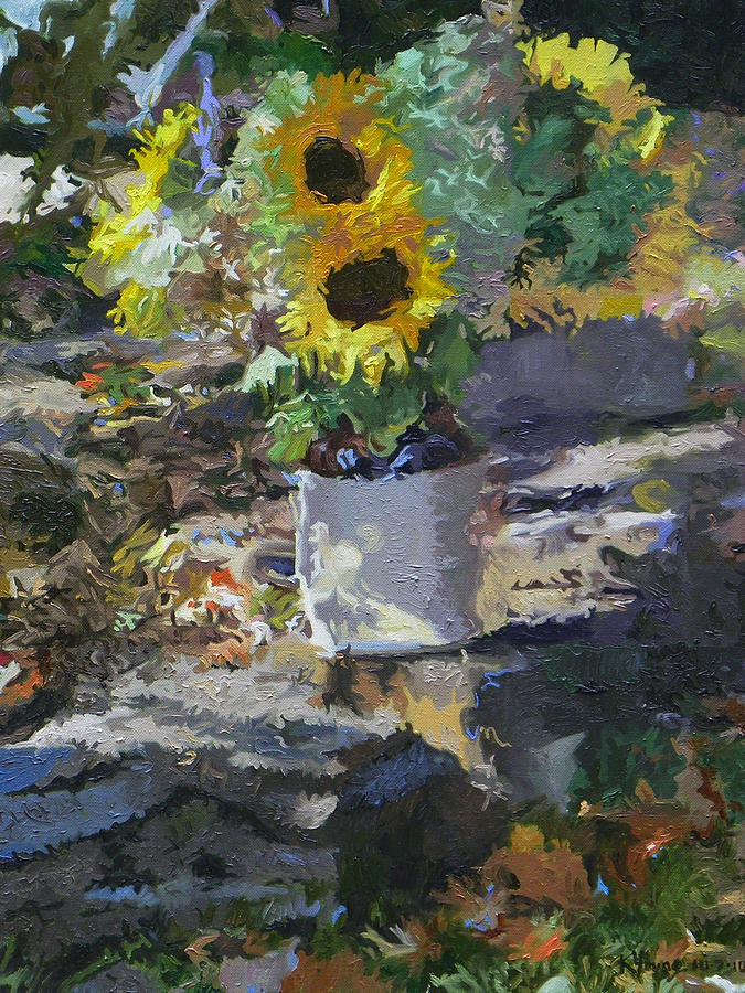 Still Life Painting - Sunflowers by Kenneth Young