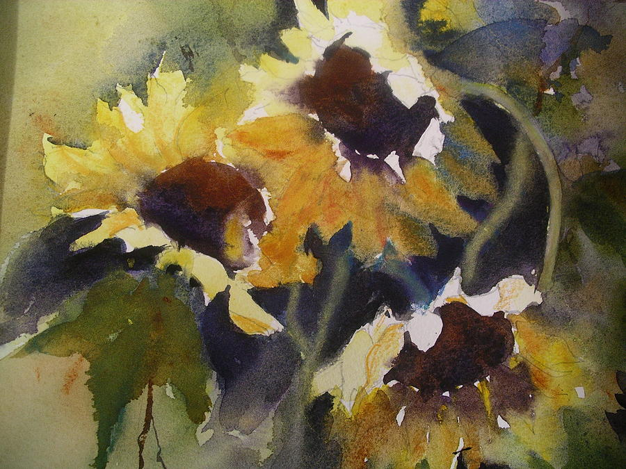 Flowers Painting - Sunflowers by Margaret Kent