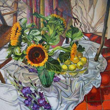 Sunflowers Painting - Sunflowers by Margie Guyot