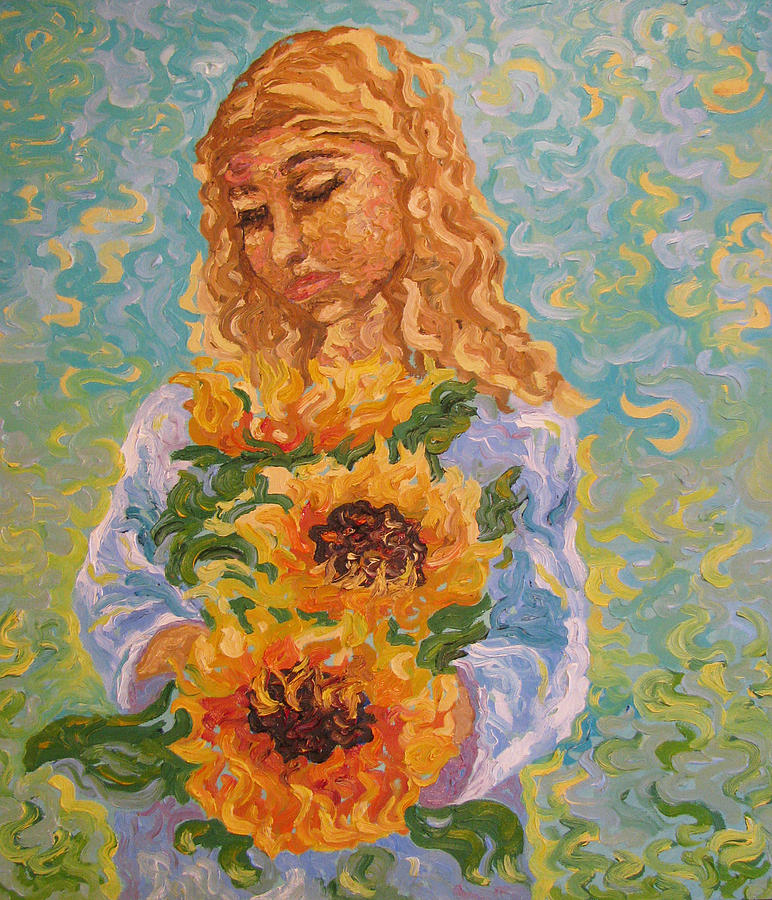 Sunflowers Painting - Sunflowers by Marina Fedorova