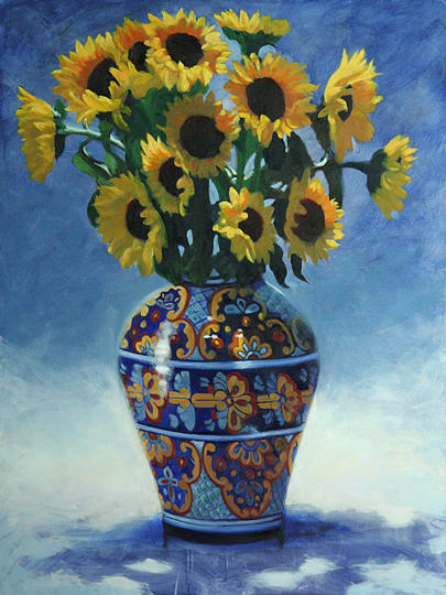Floral Painting - Sunflowers by Michael Lynn Adams