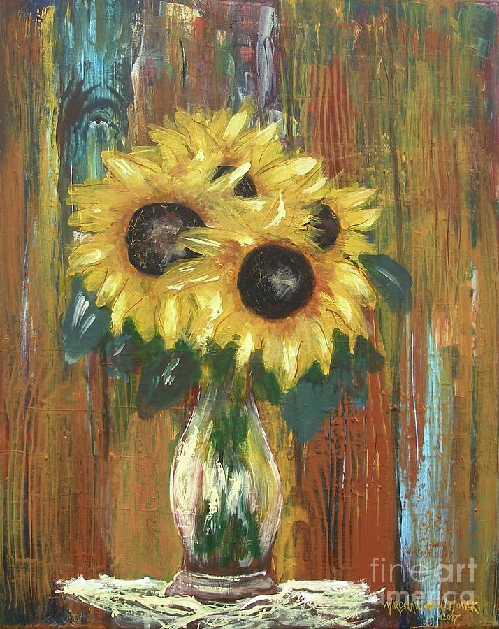 sunflowers by Miroslaw  Chelchowski