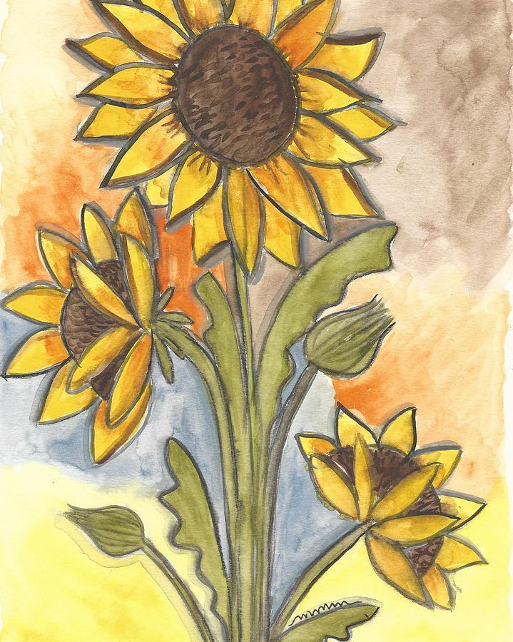 Sunflower Painting - Sunflowers by Monica Martin