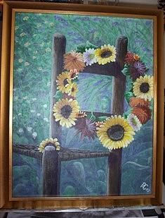 Floral Painting - Sunflowers N April by Pat  Corbett