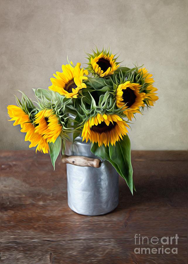 Sunflower Photograph - Sunflowers by Nailia Schwarz