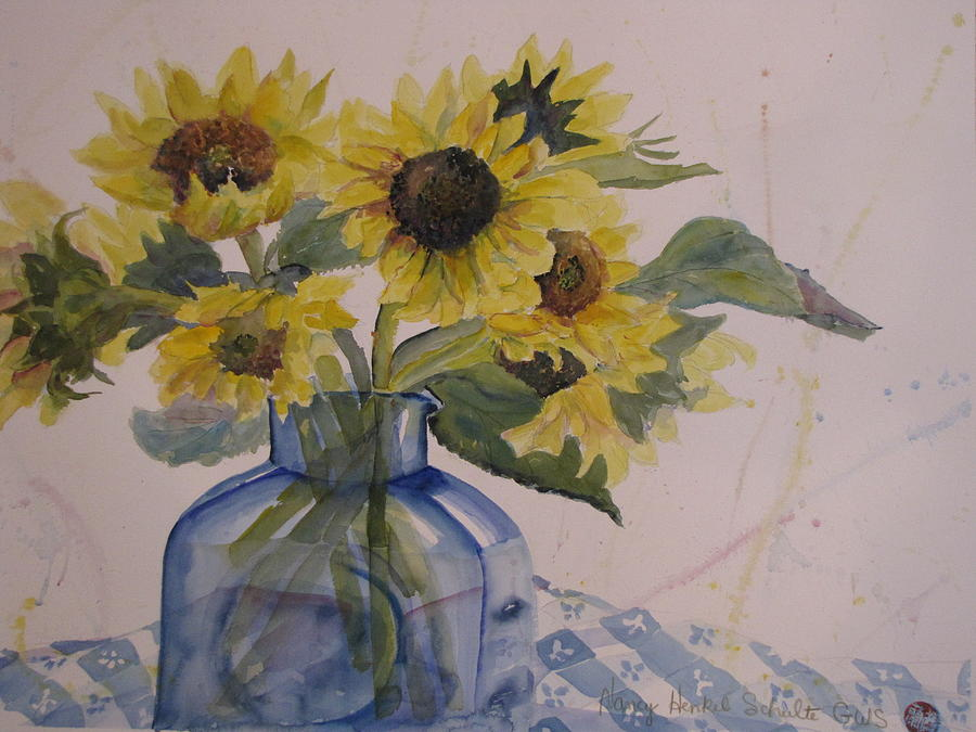 Sunflowers Painting - Sunflowers by Nancy Henkel Schulte