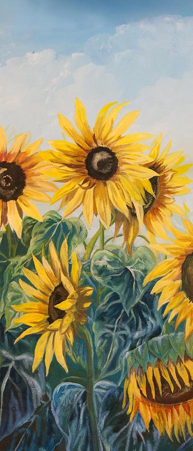 Sun Painting - Sunflowers Part 2 by Jana Goode