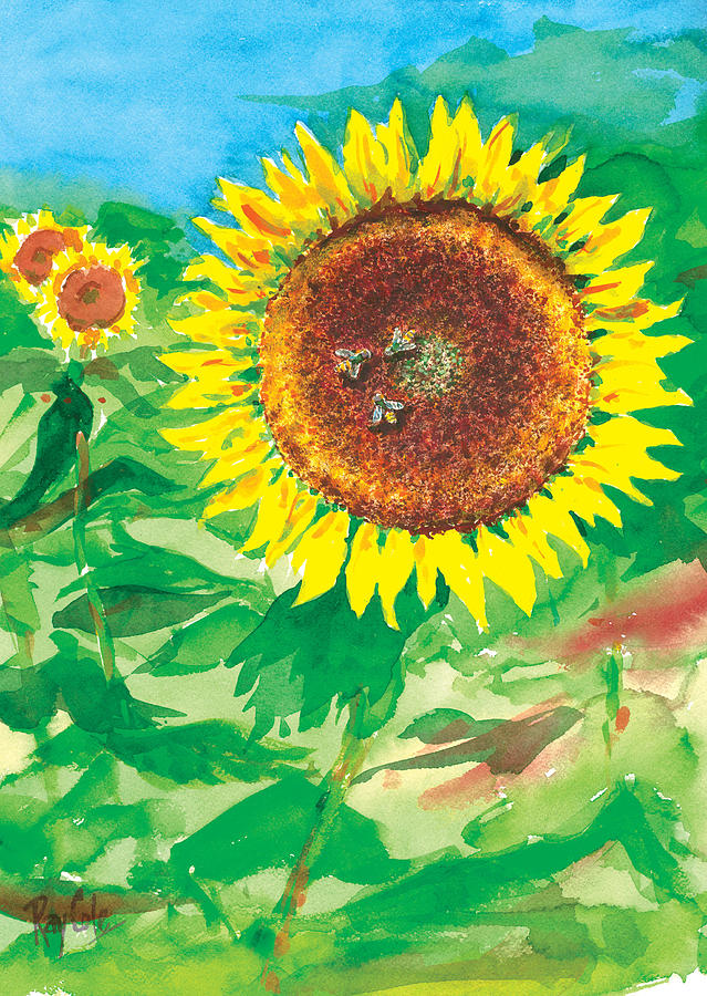 Sunflowers Painting - Sunflowers by Ray Cole