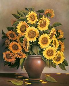 Sunflowers Painting by Suleyman Mavruk