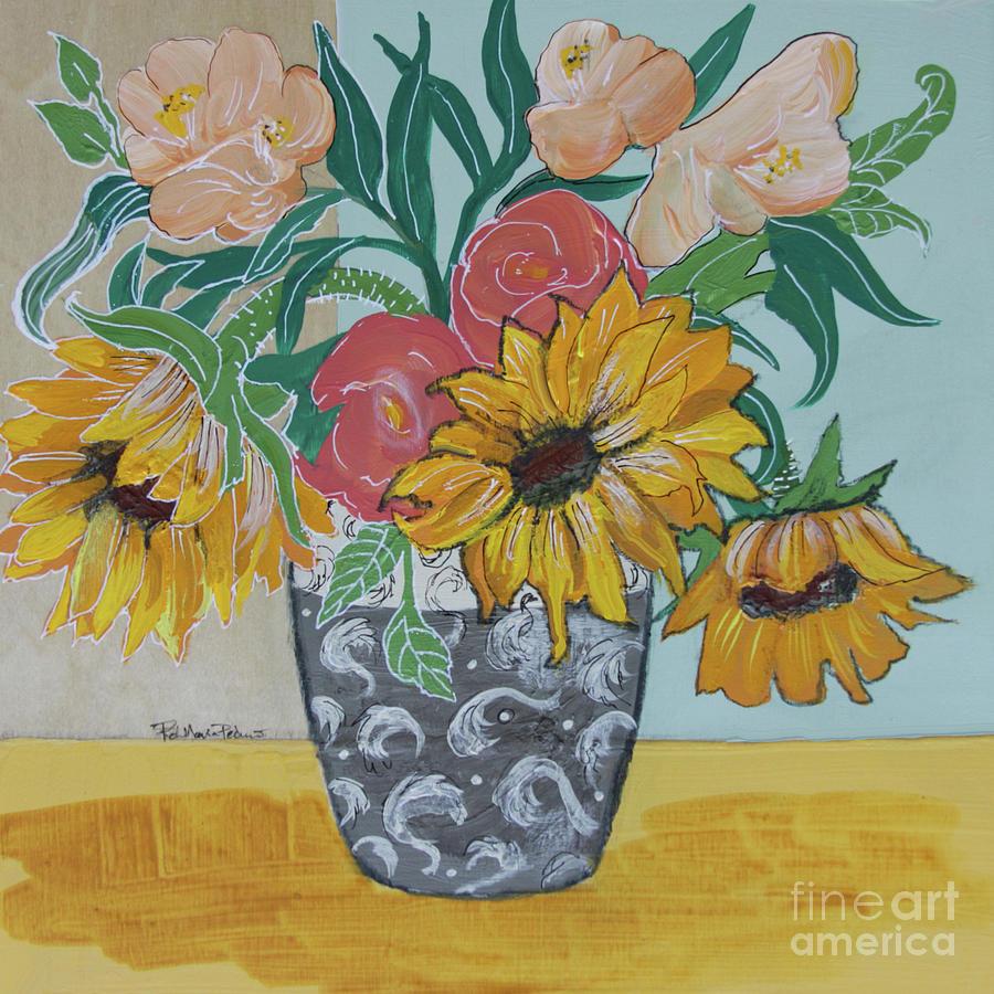 Sunflowers Three by Robin Maria Pedrero