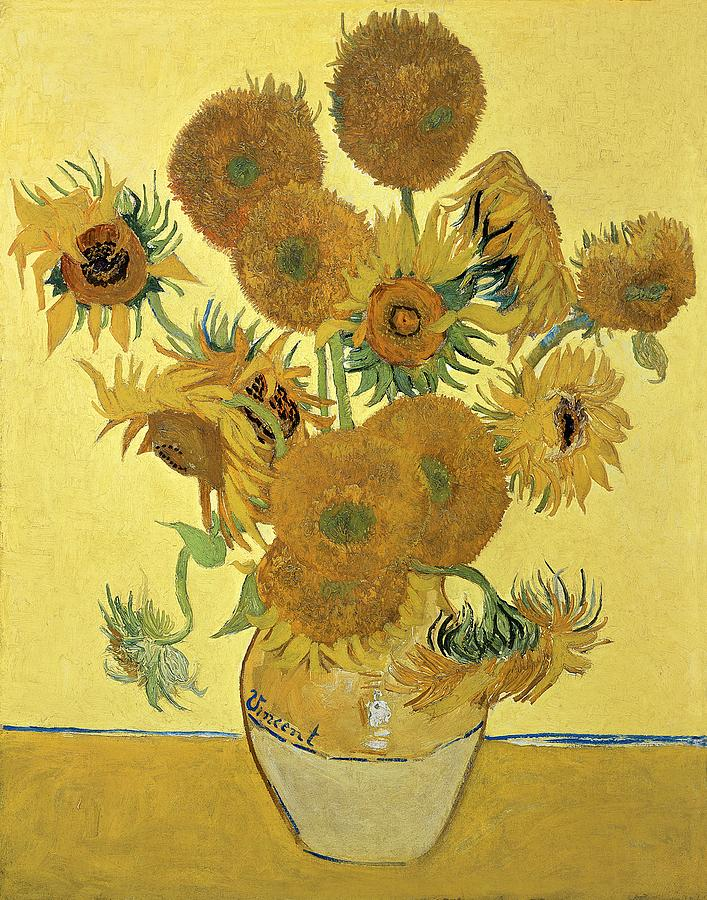 Sunflowers Painting - Sunflowers, 1888  by Vincent Van Gogh