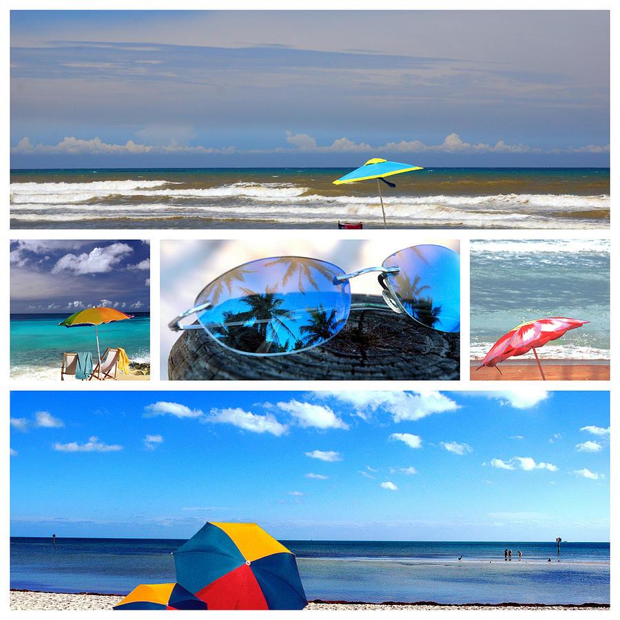Beach Umbrella Photograph - Sunglasses Needed In Paradise by Susanne Van Hulst