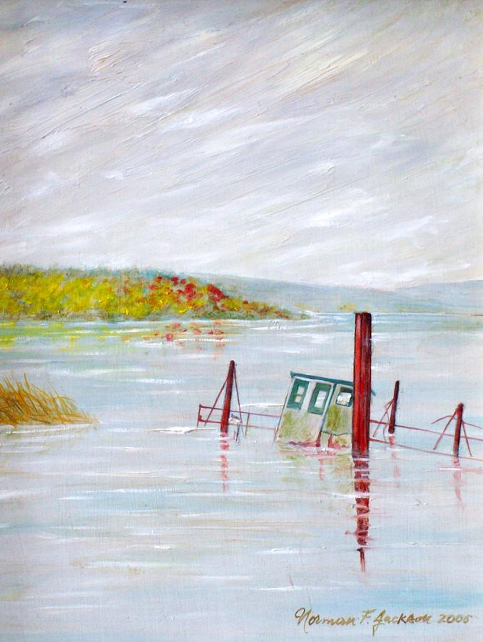 Water Painting - Sunken  by Norman F Jackson