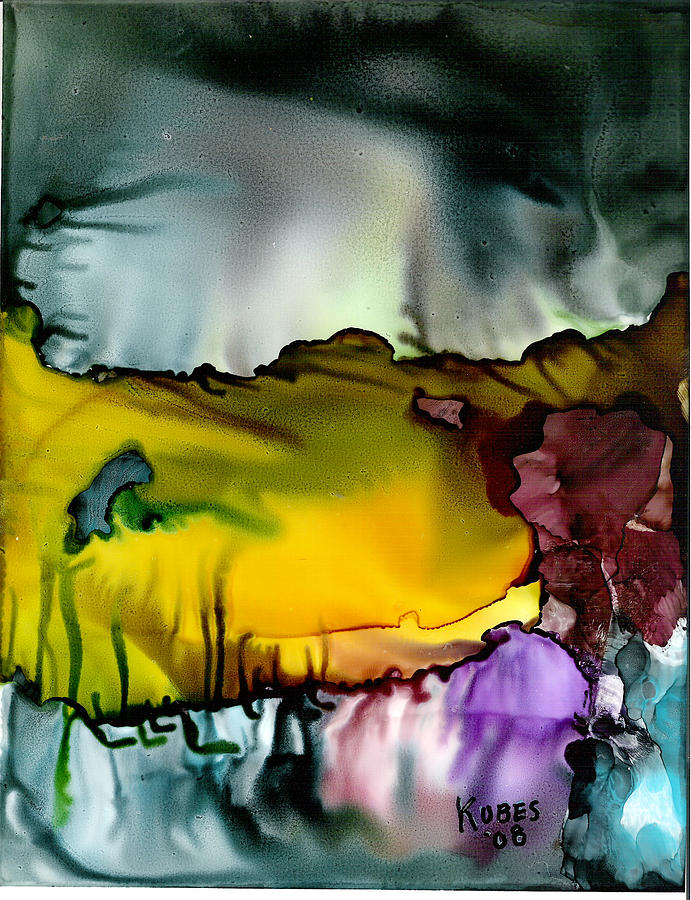Abstract Mixed Media - Sunless Sea by Susan Kubes