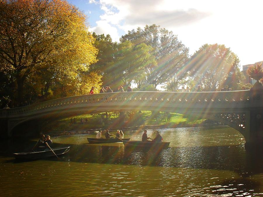 Central Park Photograph - Sunlight And Boats - Central Park -  New York City by Vivienne Gucwa