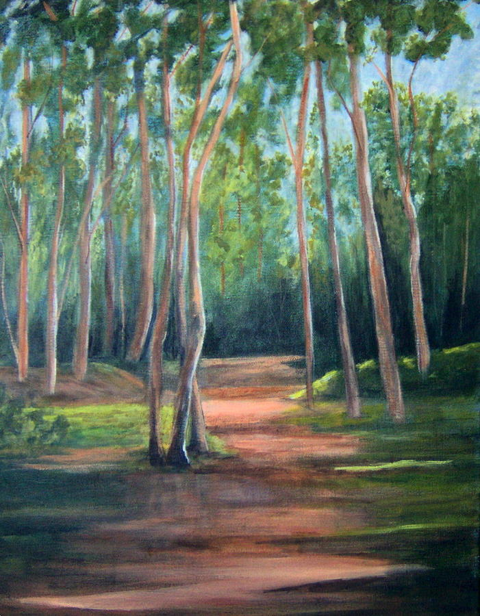 Landscape Painting - Sunlight and Shadows by Lorna Skeie
