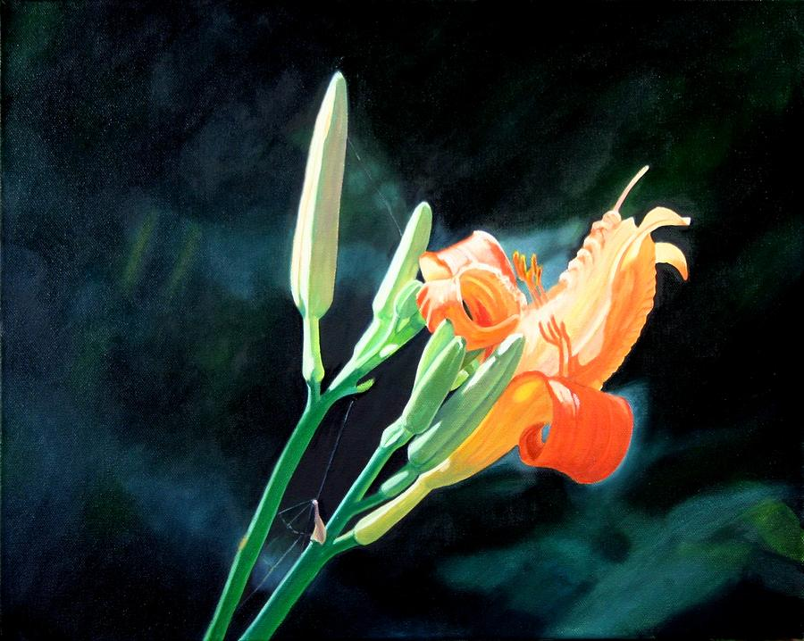 Daylilies Painting - Sunlight by Harlan