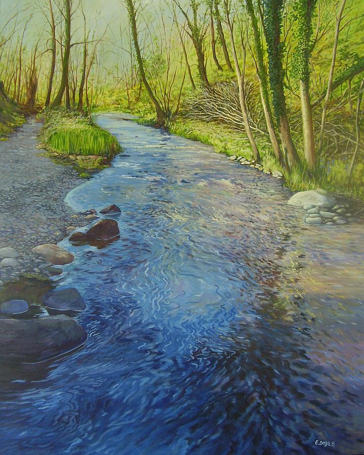 Glen Painting - Sunlight In The Glen by Eamon Doyle