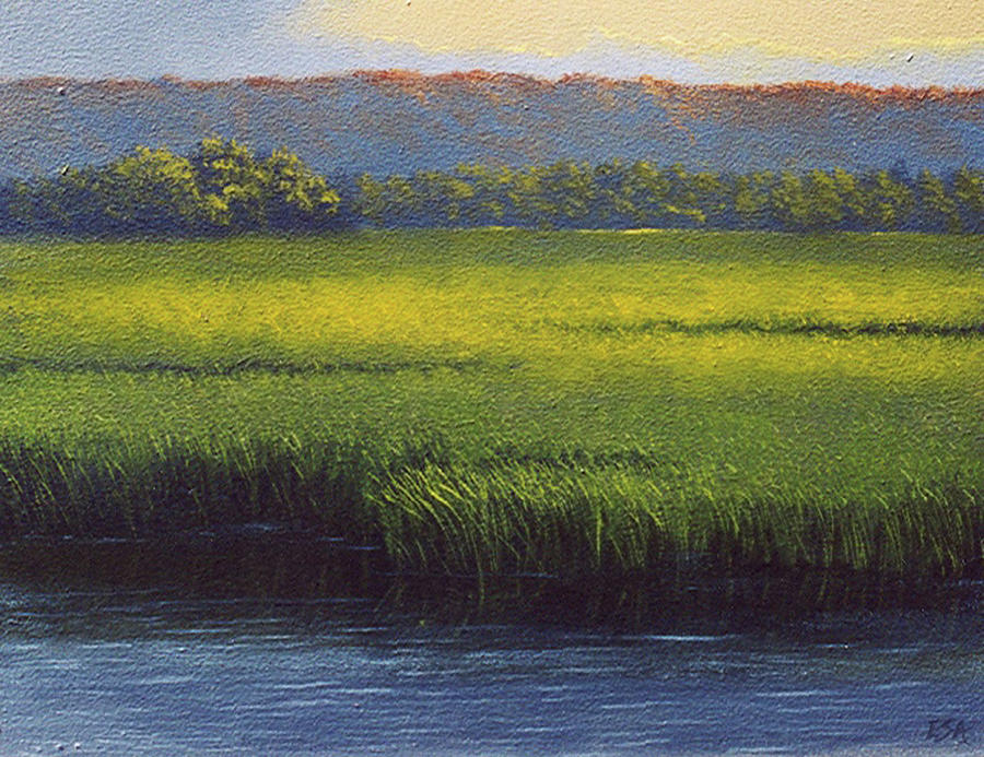 Landscape Painting - Sunlight On The Marsh by Eric Angeloch