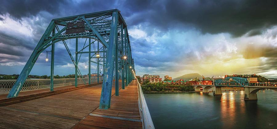 Sunlight Thru Rain Over Chattanooga by Steven Llorca