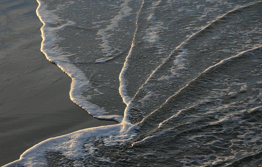 Beach Photograph - Sunlit Beach Wave by Mike Coverdale