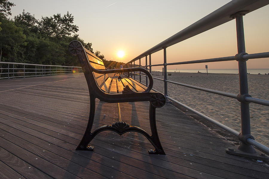 Sunlit Bench Photograph