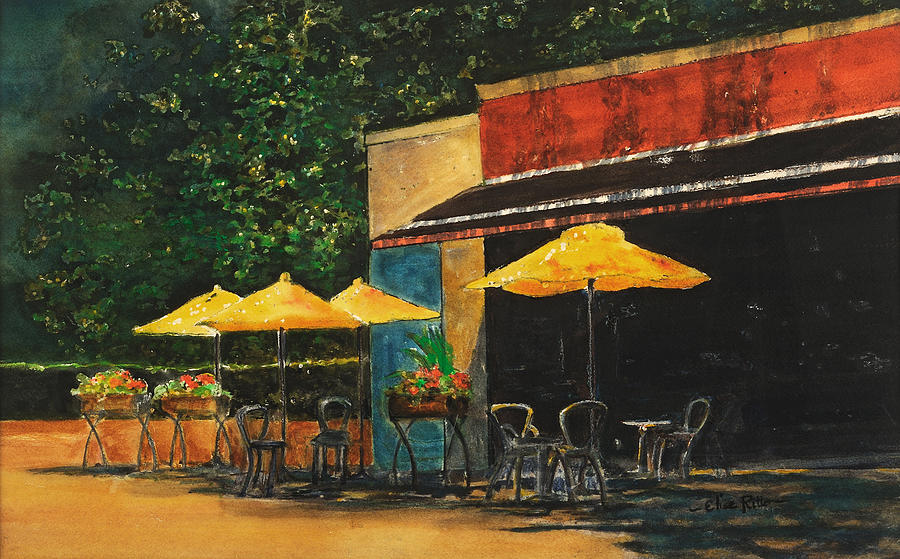 Sunlit Cafe by Elise Ritter
