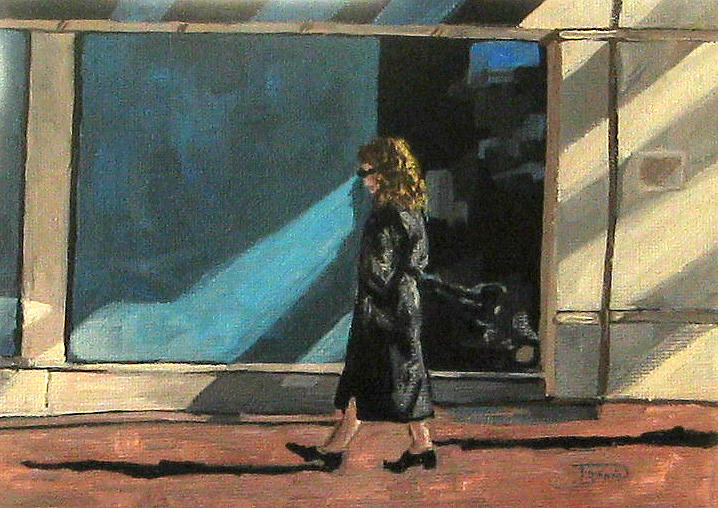 Woman Painting - Sunlit City Stroll by Torrie Smiley