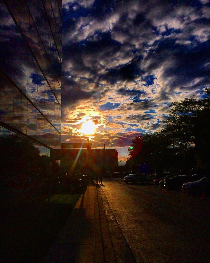 Clouds Photograph - Sunlit Cloud Reflection by Nick Heap