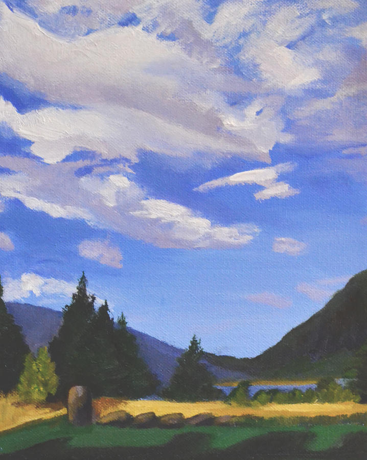 Clouds Painting - Sunlit Clouds by Mary Chant